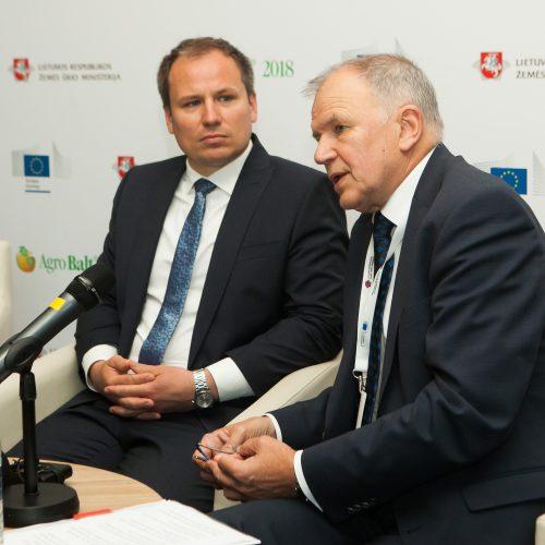 """""""AgroBalt 2018"""" spaudos konferencija  © BFL nuotr."""