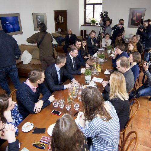 Premjeras sukvietė žurnalistus į šimtadienio pusryčius  © K. Kovalėlio / BFL nuotr.