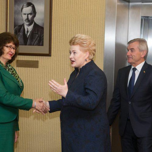 Prezidentė susitiko su Seimo valdyba