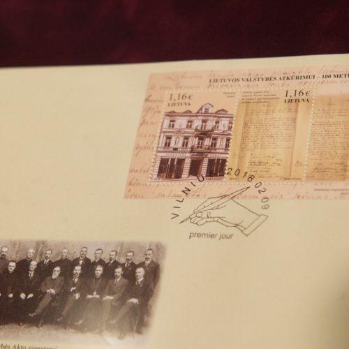 Išleista proginė pašto ženklų serija  © V. Skaraičio / BFL nuotr.