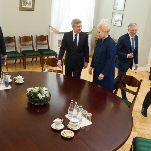 Į Prezidentūrą sukviesta Seimo valdyba  © V. Skaraičio / BFL nuotr.