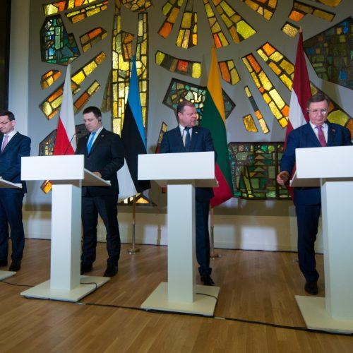 Vilniuje susirinko Baltijos ministrų taryba  © V. Skaraičio / BFL nuotr.