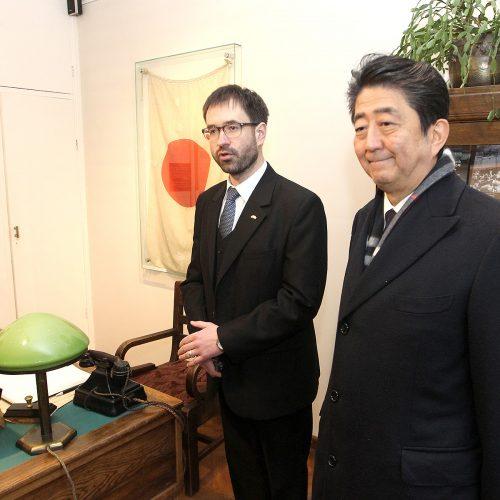 Japonijos premjero Šinzo Abės vizitas Kaune  © Evaldo Šemioto nuotr.