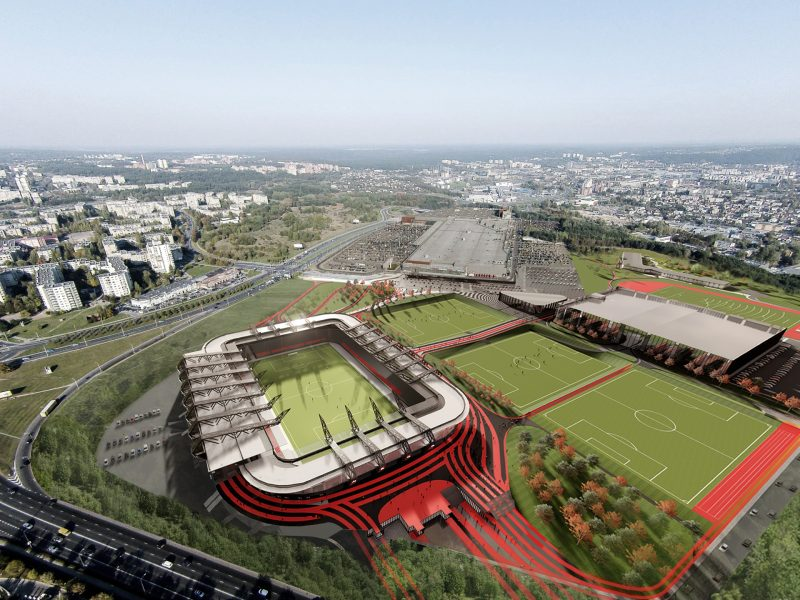 Uždegta žalia šviesa nacionaliniam stadionui: bus atidarytas 2022-aisiais