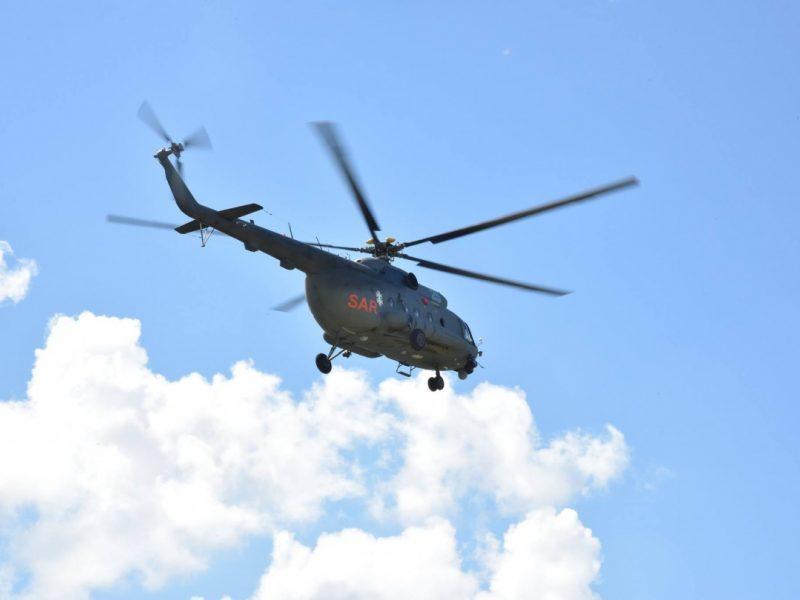 Sraigtasparniu į Klaipėdos ligoninę atskraidintas Latvijos karo jūrininkas