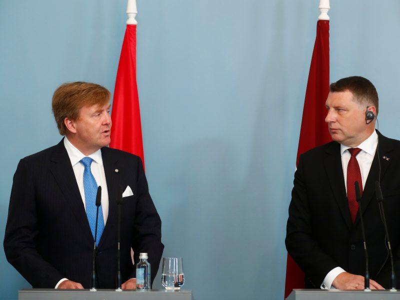 Nyderlandų karalius pradėjo valstybinį vizitą Baltijos šalyse