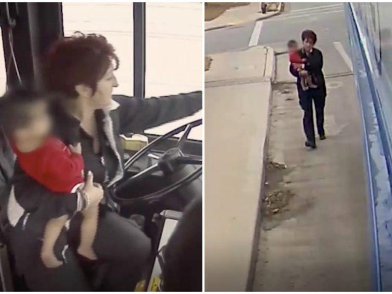 Kilnus poelgis JAV: autobuso vairuotoja didvyriškai išgelbėjo vaiką