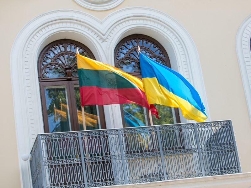 Ukrainos Nepriklausomybės dienos paminėjimas Istorinės Prezidentūros sodelyje