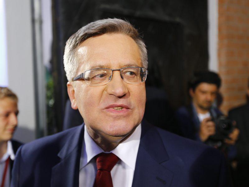 B. Komorowskis: Lietuva ir Lenkija turi plėtoti konkretų bendradarbiavimą