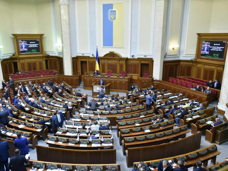 Ukrainos parlamentas atleido antikorupcijos komiteto pirmininką