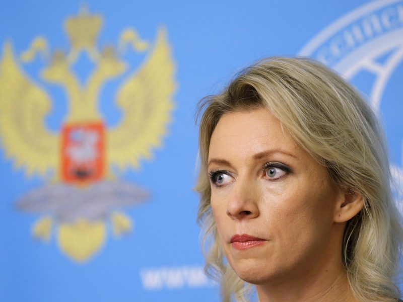 M. Zacharova: niekas negali iškelti Rusijai 24 valandų ultimatumų