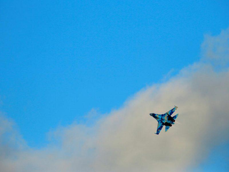 Ukrainoje nukrito kariuomenės lėktuvas Su-27, abu pilotai žuvo