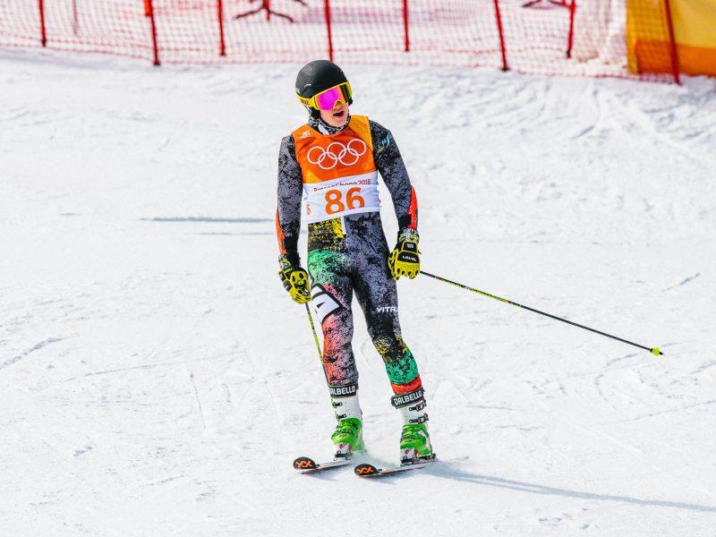 Kalnų slidininkas A. Drukarovas startuos ir slalomo pagrindinėse varžybose