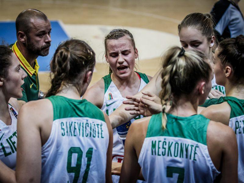 Lietuvos 20-metės krepšininkės Europos čempionate nugalėjo graikes