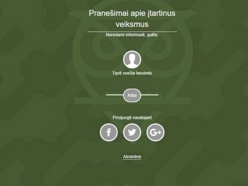 E. Jakilaitis apie platformą akylas.lt: jau užregistruota įtartinų įvykių
