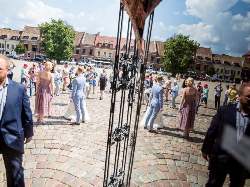 Kauno rotušėje susituokė žinoma šokėjų pora