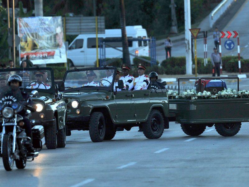 F. Castro laidotuvės Kuboje