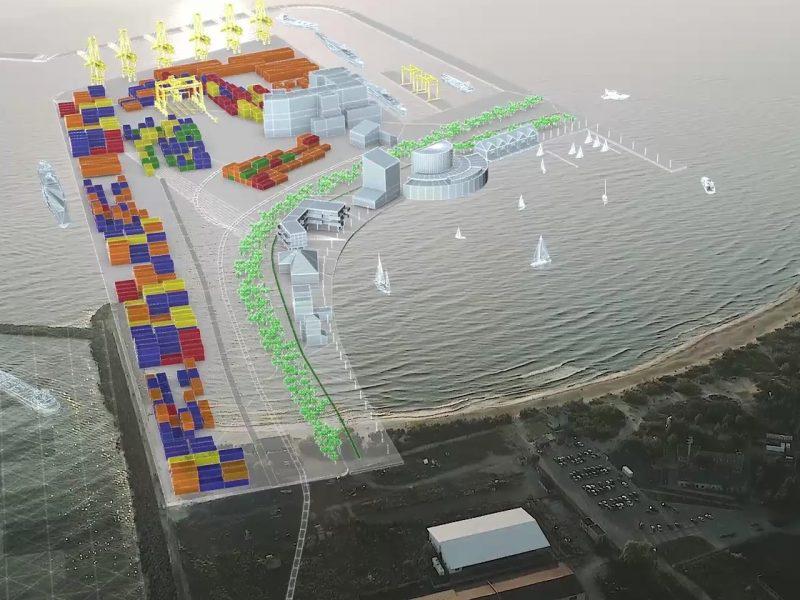 Išorinis uostas su nauda miestui