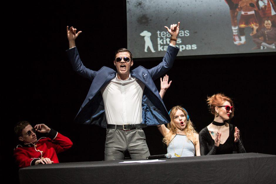 """Teatro """"Kitas Kampas"""" aktoriai susikaus improvizacijos kovose"""