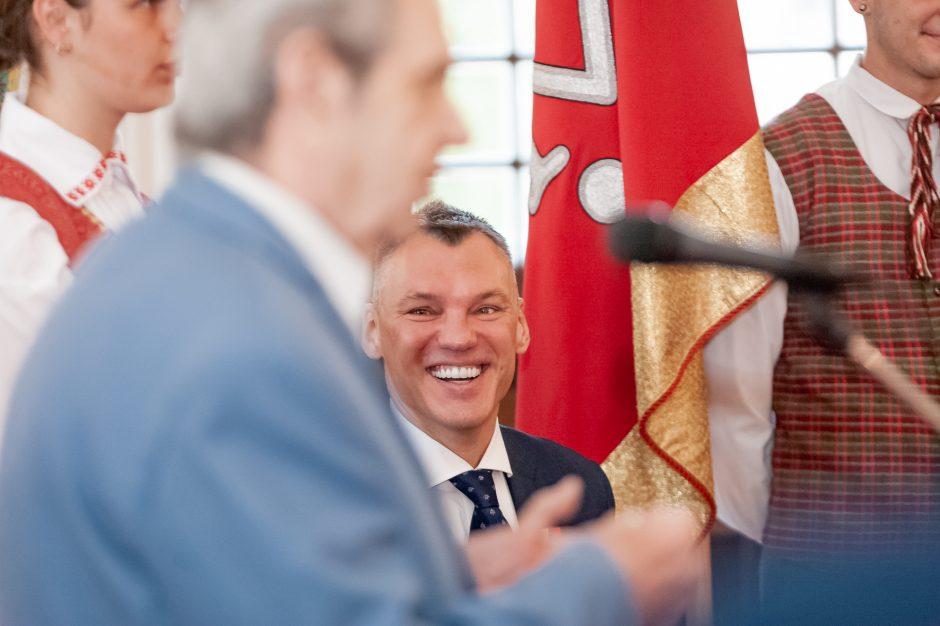 Š. Jasikevičiui įteiktos garbės piliečio regalijos