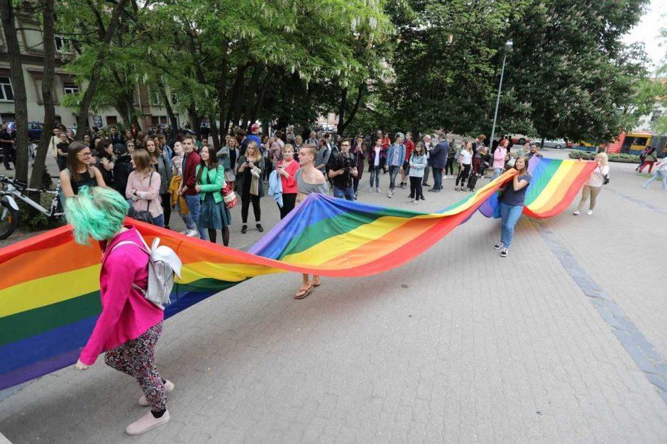 """Vilniuje atidaryta pirmoji """"Vaivorykštės perėja"""" Lietuvoje"""