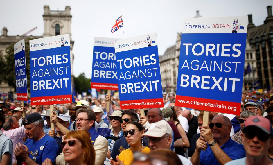 """Britai reikalauja antro balsavimo dėl """"Brexit"""""""