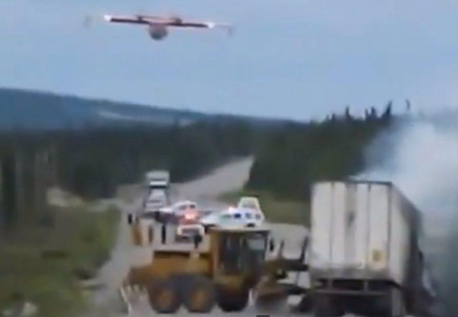 Kilus gaisrui vilkike: ugnies likvidavimas iš oro