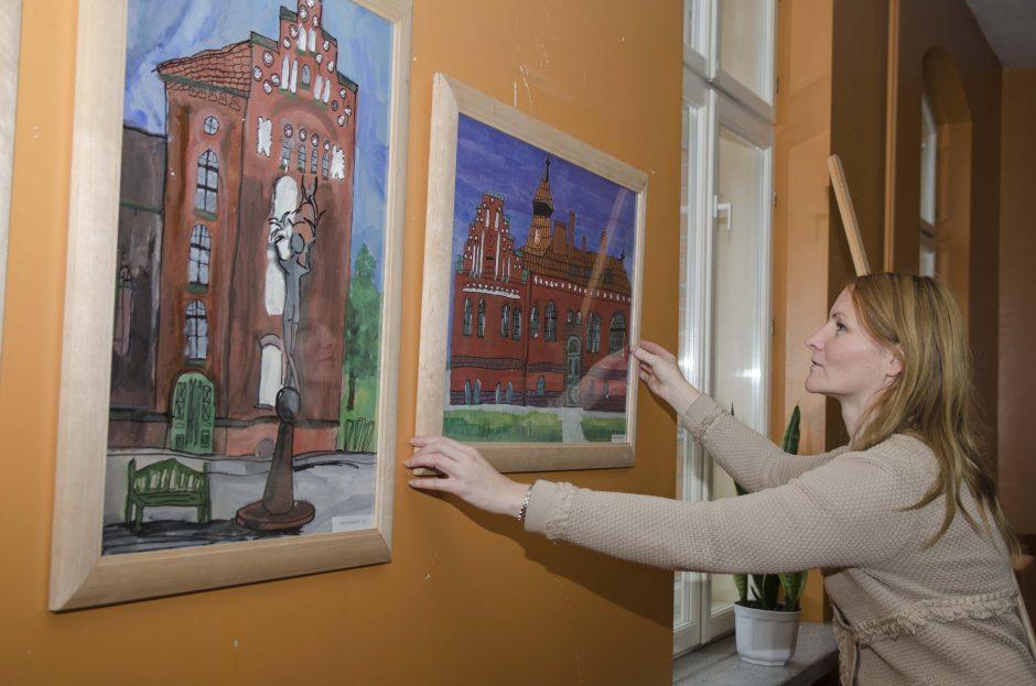 Klaipėdos moksleiviai piešė svajonių universitetą
