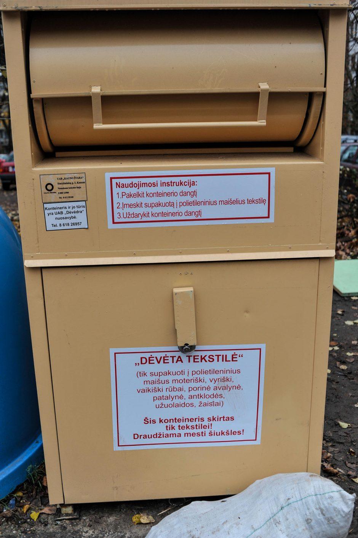 Kaune ilgapirščiai pavogė šešis dėvėtos tekstilės konteinerius