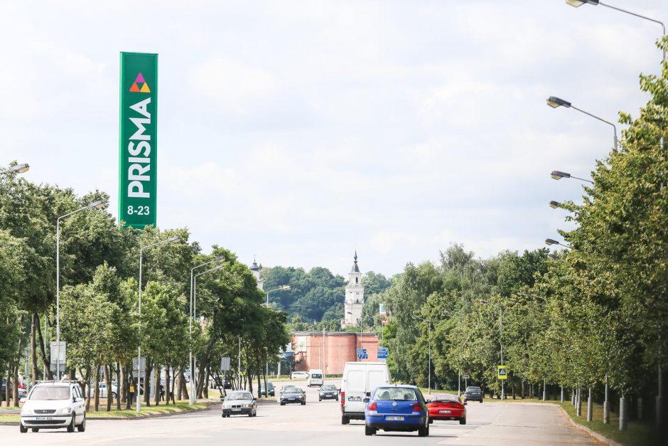 """Kuriozas: sumažinti """"Prismos"""" reklaminį bokštą trukdo biurokratiniai niuansai"""