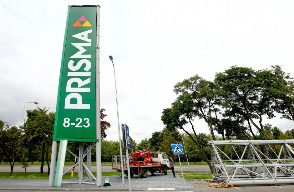 """""""Prismos"""" reklaminis bokštas sumažėjo iki 18 metrų"""