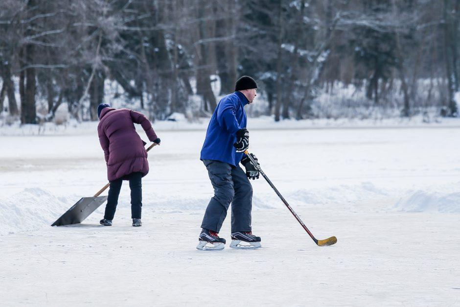 Klaipėdiečių pramogos ant ledo