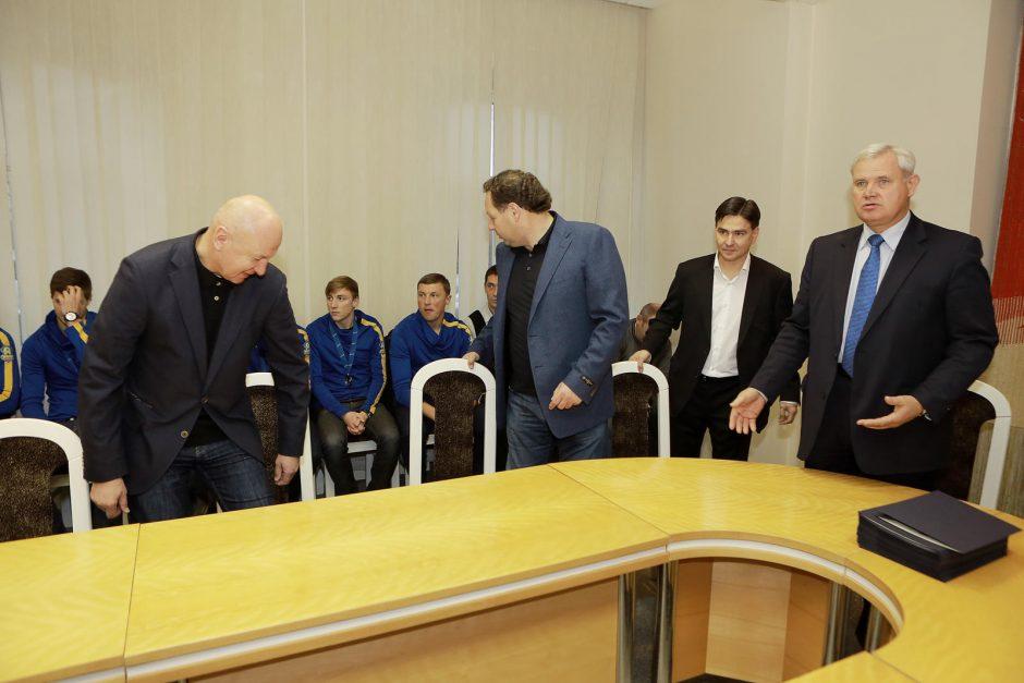 """Meras priėmė šalies vicečempionus – """"Atlanto"""" žaidėjus"""