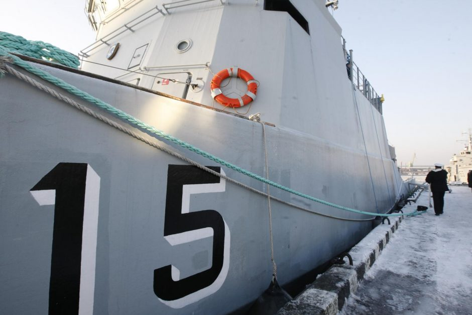"""""""Pakrikštytas"""" naujas karo laivas"""
