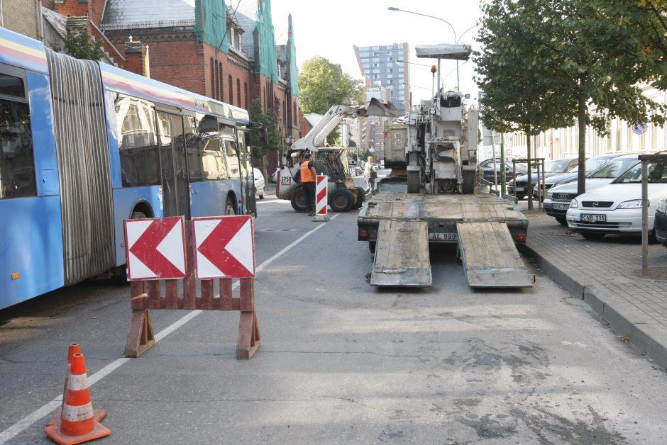 Startavo Liepų gatvės dalies remontas (ribojamas eismas)