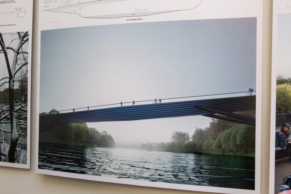 Paaiškėjo, kokį pėsčiųjų tiltą per Nerį statys Vilnius