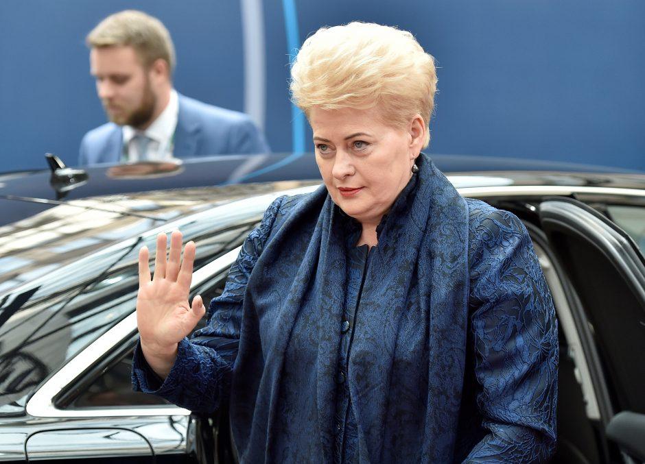 D. Grybauskaitė teigia turėsianti sudėtingą pokalbį su Serbijos prezidentu