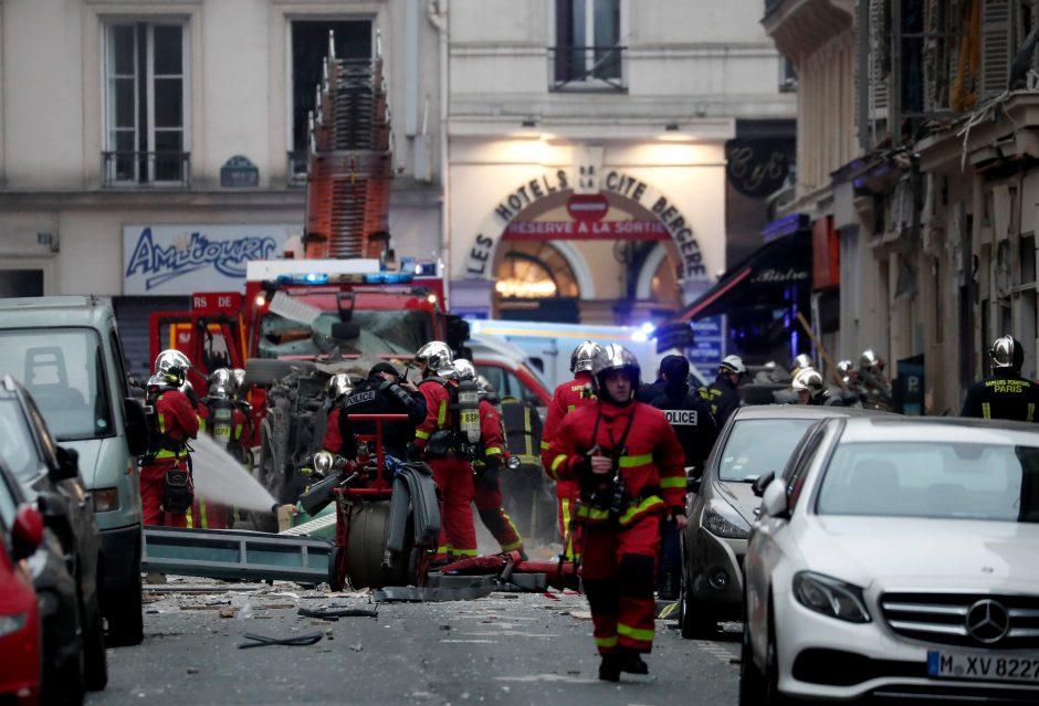 Sprogimas Paryžiaus centre