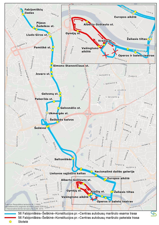 Iki spalio mėnesio bus laikinų eismo pakeitimų Lukiškių gatvėje