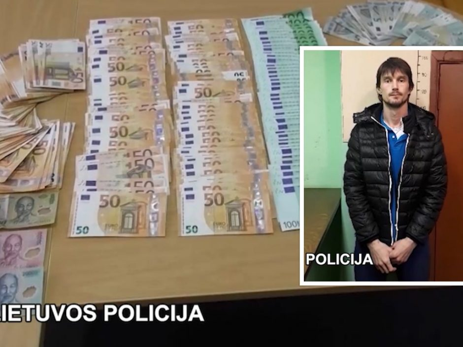 Rusas Vilniuje suklastotomis banko kortelėmis išgrynino tūkstančius eurų