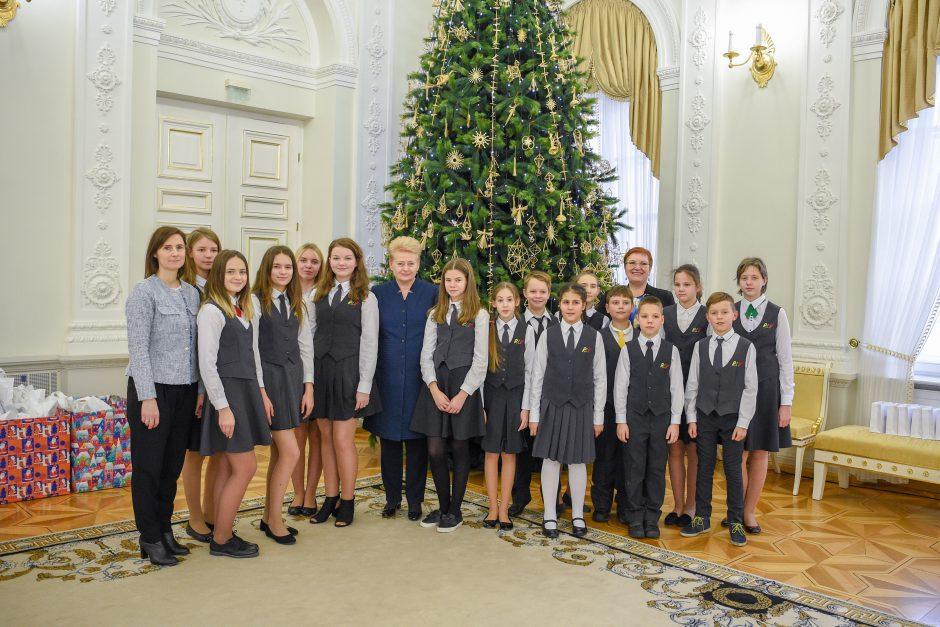 Tradicinis prezidentės ir vaikų susitikimas