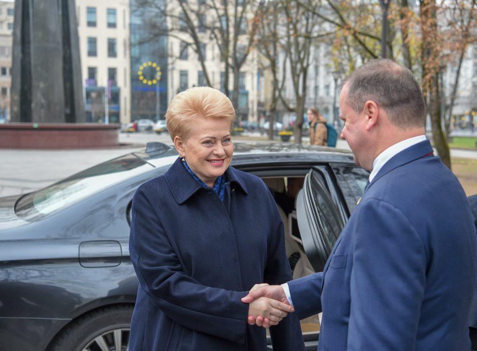 D. Grybauskaitė pasveikino Vyriausybę su 100-uoju gimtadieniu