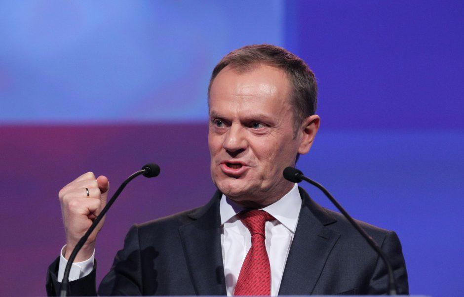 Europos Vadovų Tarybos pirmininkas griežtai sukritikavo JAV prezidentą