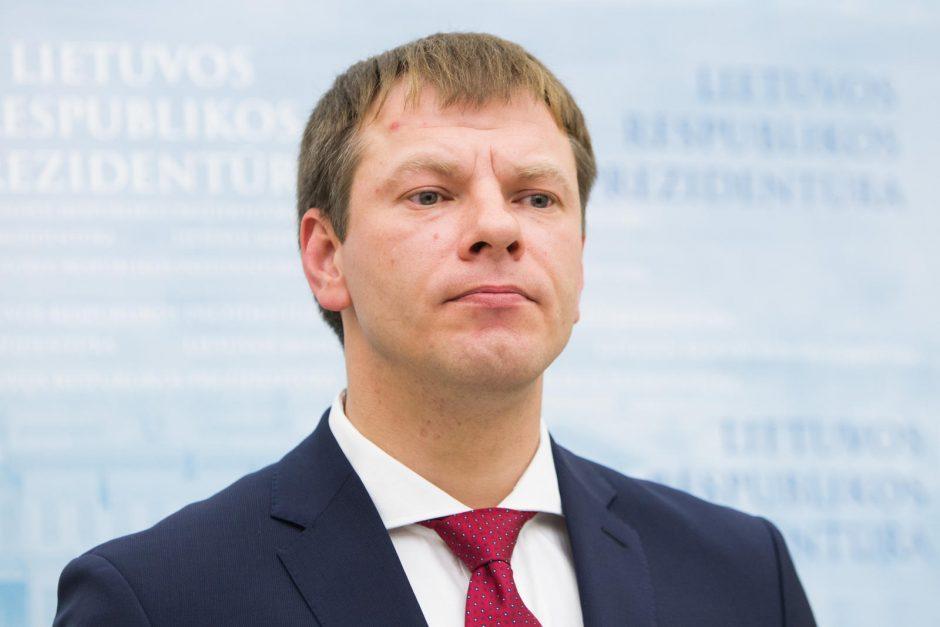 Ūkio ministru laikinai bus V. Šapoka