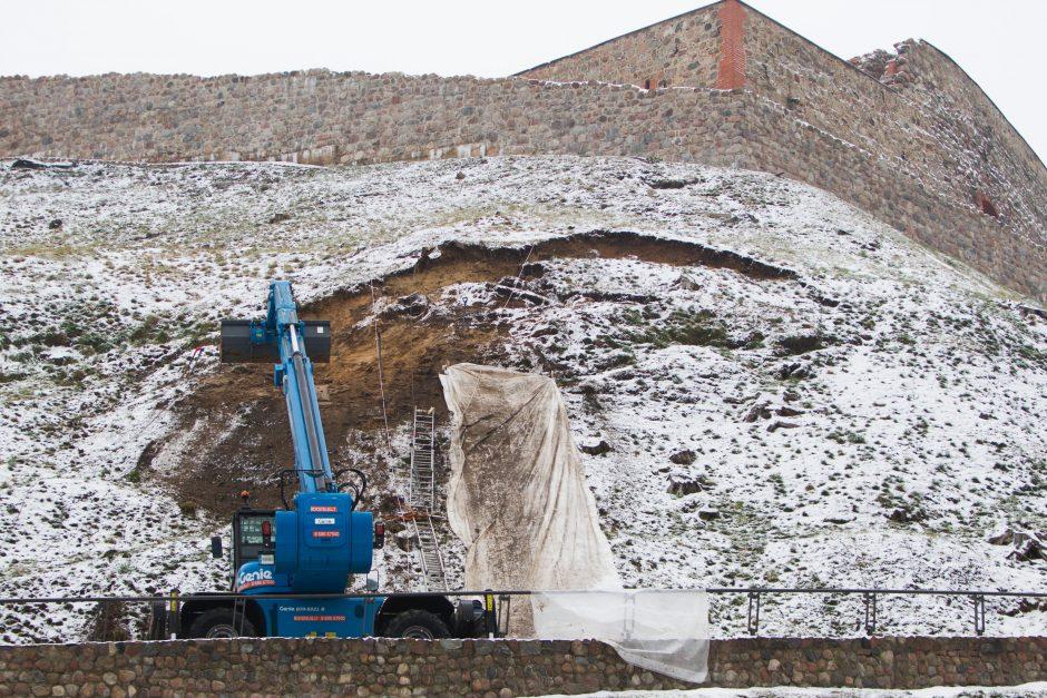 Griūvantį Gedimino kalną tikimasi atidaryti Vasario 16-ąją