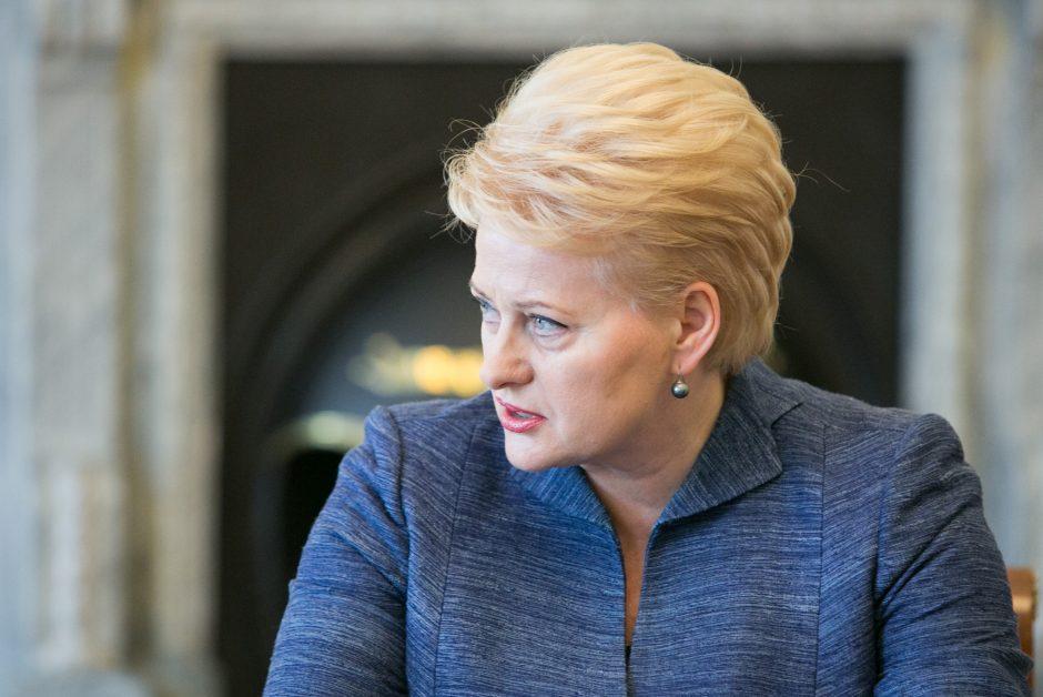 D. Grybauskaitė D. Trumpo sprendimo dėl Jeruzalės nei kritikuoja, nei remia