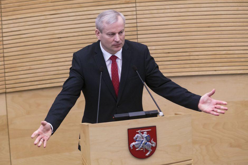 M. Bastys atsisako Seimo nario mandato