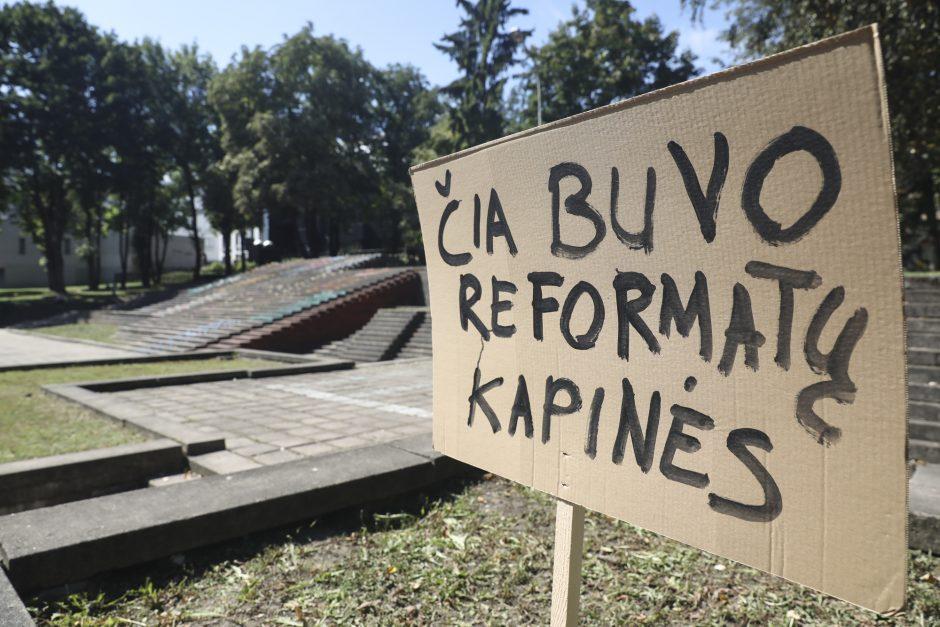 Reformatų skvere aktyvistai surengė akciją