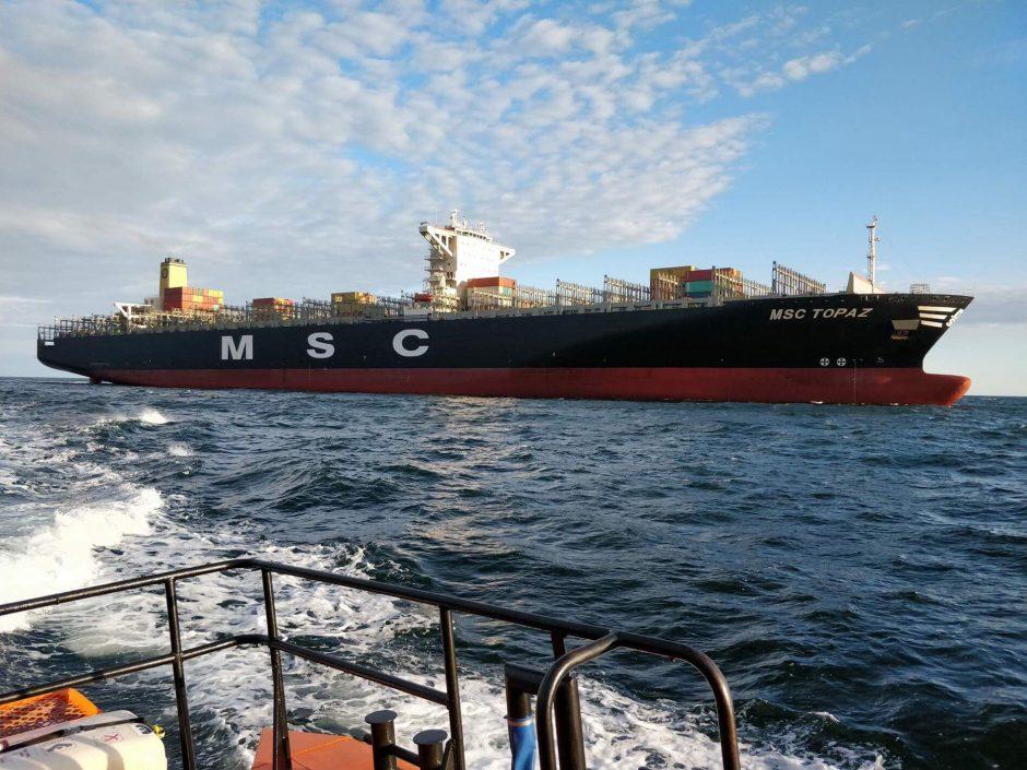 Į Klaipėdą atplaukė didžiausias uosto istorijoje konteinerių laivas