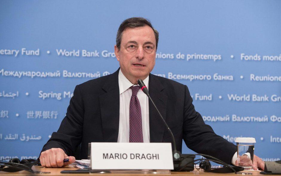 ECB prezidentas: euro zonos grėsmės kyla, tačiau ekonomika ir toliau augs